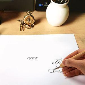 Manga Dip Pen-Set Comic Pro Zeichnung Kit 3 Schreibfedern Holz Halter Tinte Kalligraphie Werkzeuge DXAC