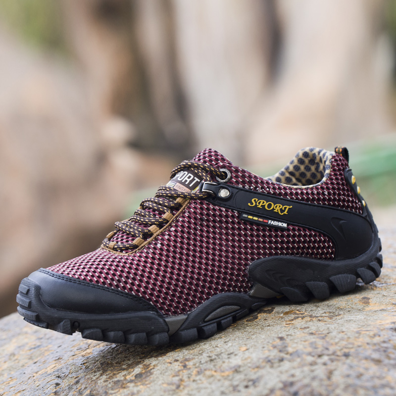 Summer Outdoor Hiking Shoes Men Breathable Mesh Camping Climbing Trekking Tactical Sneakers
