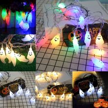 Halloween Cartoon Ghost LED Fairy String Lights Battery Operated Waterproof Window Display Home Party Yard Garden Decoration