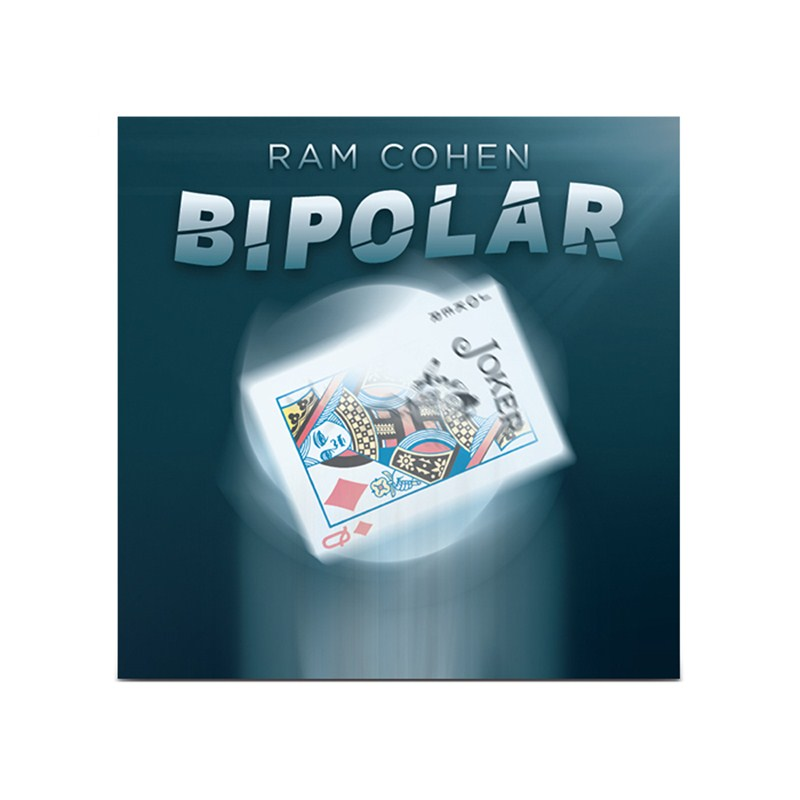 Bipolar By Ram Cohen (Gimmick+Online Instructions) Poker Magic Tricks Cards Change Color Visual Magic Effect Illusions Street