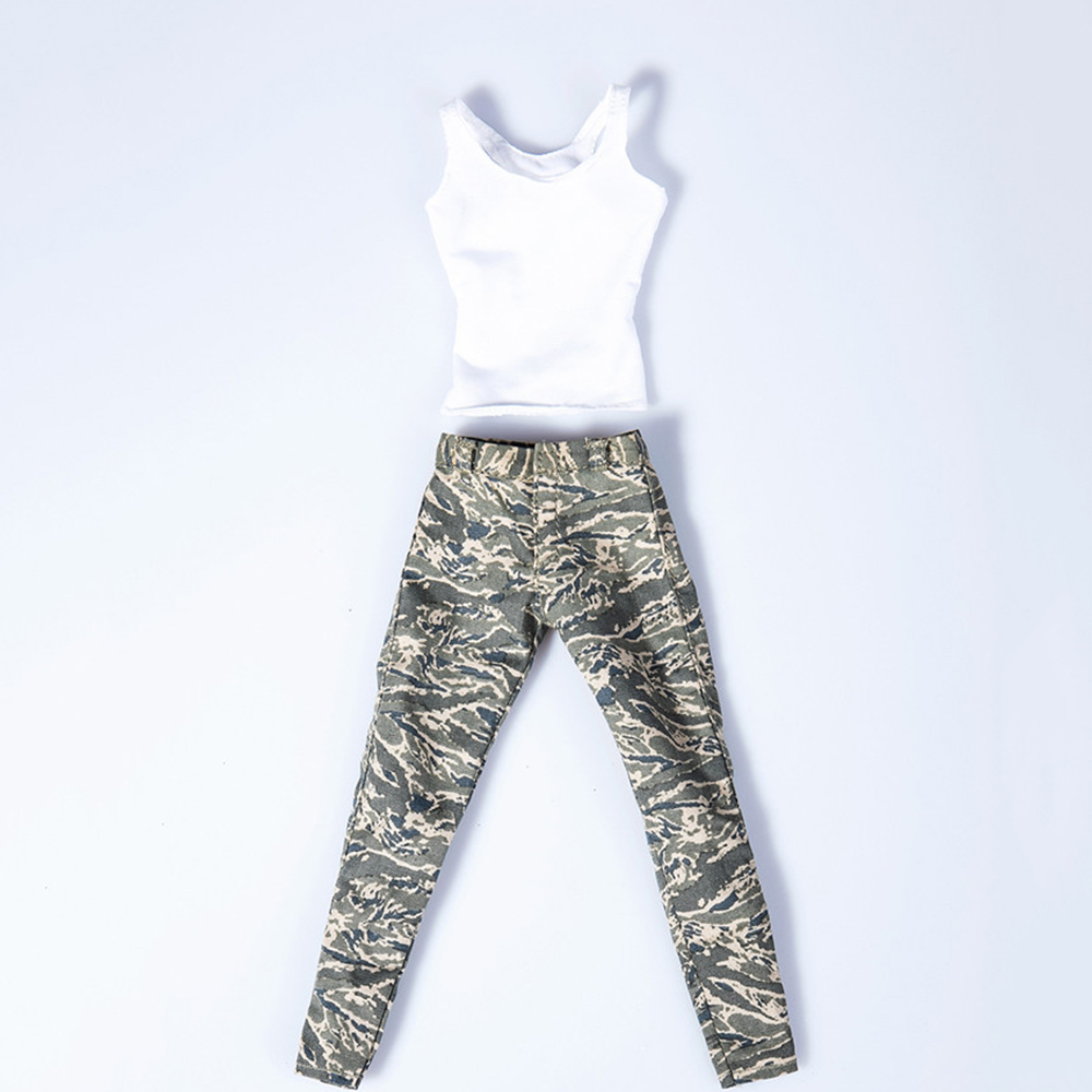 1//6 Women Camouflage Outfits Jeans Set For Hot Toys PHICEN Figure SHIP FROM USA