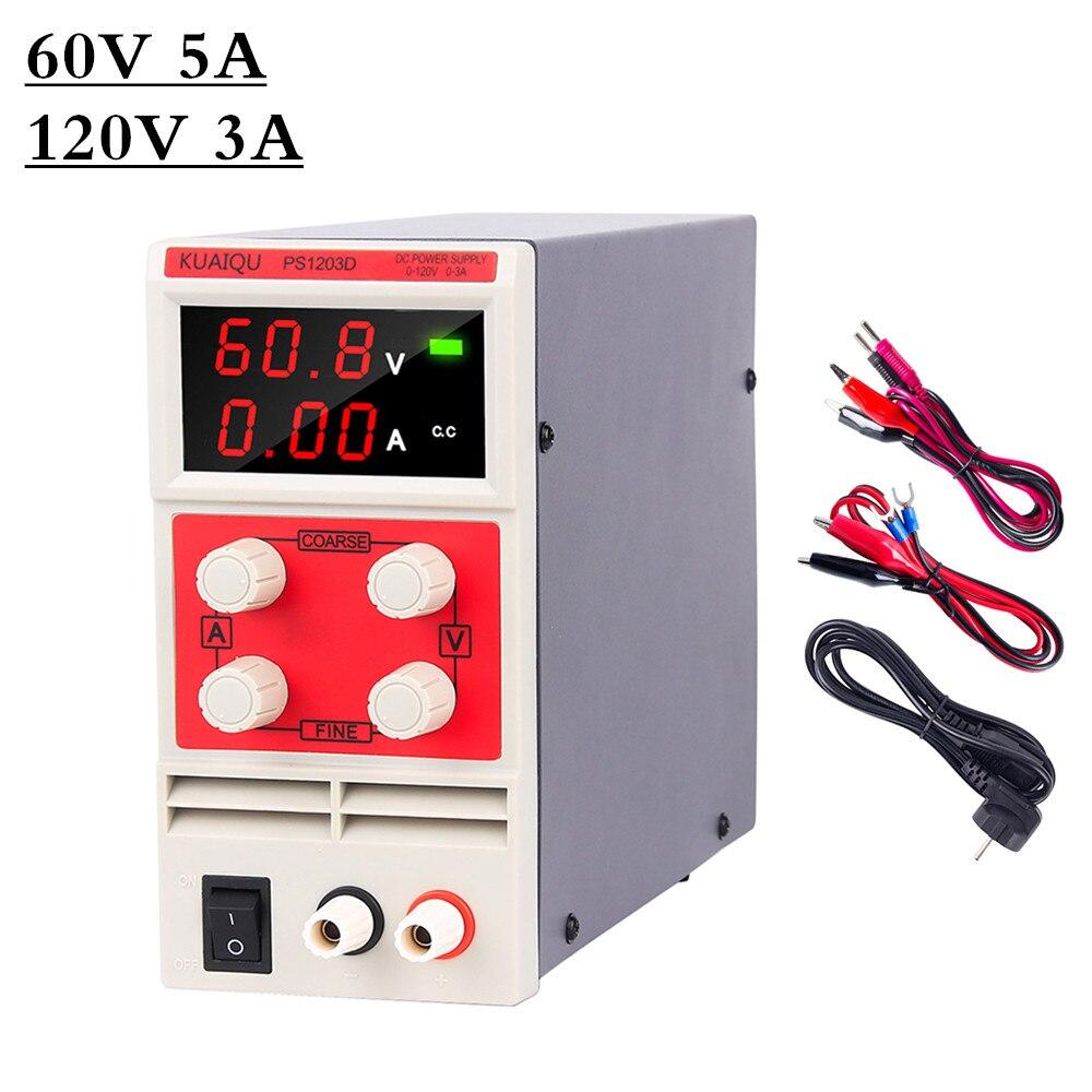 Alimentation à découpage de laboratoire affichage numérique régulateur de tension cc réglable banc de laboratoire Source d'alimentation ca 220 V
