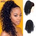 Длинный афро кудрявый шнурок BUQI, 12 дюймов, синтетический накладной хвост, наращивание волос, хвост, Африканский, американский пучок