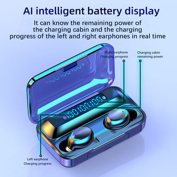 TWS Bluetooth Earphones 2200mAh Charging Box Wireless Headphone Fone 9D Stereo Sports Waterproof Earbuds Headset with Microphone 2
