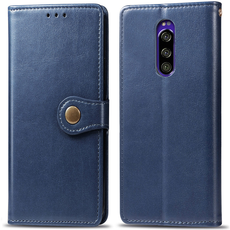 For Xperia1 XZ4 Accessories Compact Fashion Couples Flip Wallet Leather Case Sony XZ4compact Card Cover Protection