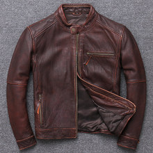 100% Genuine Leather Jacket Men Clothes 2019 Autumn winter Real Fit Co