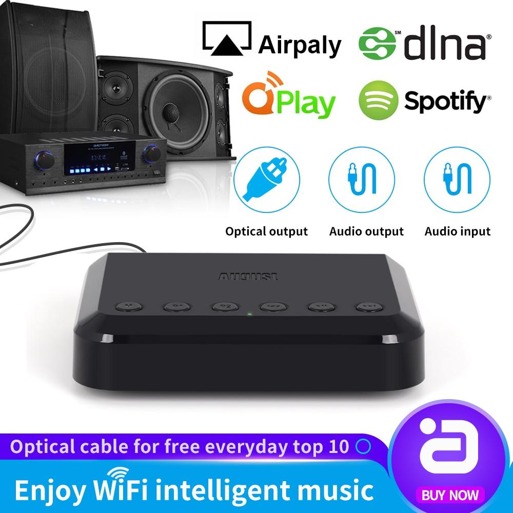 Récepteur Audio WIFI sans fil WR320 pour Airplay, Spotify, DLNA, NAS adaptateur de flux sonore Multiroom adaptateur Audio musique Bluetooth
