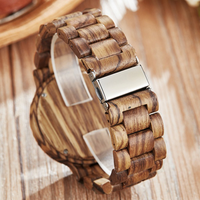 Couple Gift Women Watches Laides Casual Wrist Watch Wooden Round Dial Band No Number Analog Hollow Couple Bracelet Quartz Watch 3