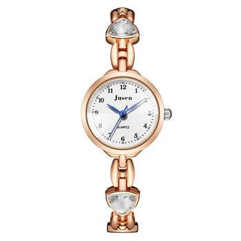 Shining Rhinestone Luxury Fashion Womens Watches Stainless Steel Rose Gold Bracelet Female Quartz Wristwatches Relojes Mujer