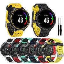 นาฬิกาซิลิโคนสายรัดข้อมือสำหรับ Garmin Forerunner 230 235 220 620 630 735 สมาร์ทนาฬิกาอุปกรณ์สมาร์ท