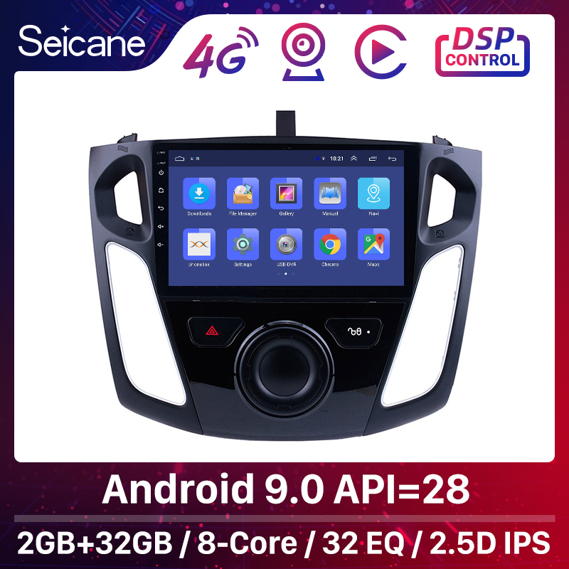 Seicane 9 Inch Android 8.1 Multimedia Player Car Radio For 2011 2012 2013-2015 Ford Focus Stereo Support Bluetooth WIFI USB OBD2(China)
