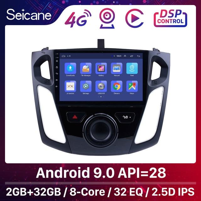 Seicane 9 Pollici Android 9.0 Lettore Multimediale Autoradio Per Il 2011 2012 2013 2015 Ford Focus Stereo Supporto Bluetooth WIFI USB OBD2