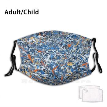 Mask - Jackson Pollock Adult Kids Anti Dust Filter Diy Mask Cold Hygiene Flu Quarantine Work From Home Virtual Meetings Self