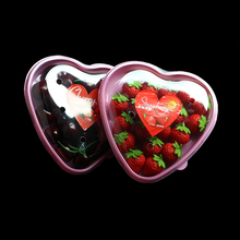 Misource 20pcs Berry Tray Container Cherry Tomato Strawberry Heart Shape Packaging Boxes For Packing