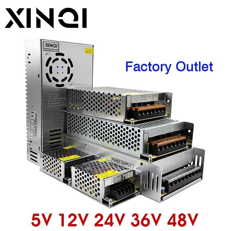 Fuente de alimentación conmutada transformador de luz AC 110V 220V a DC 5V 12V 24V 36V 48V adaptador de fuente de alimentación para adaptador Led