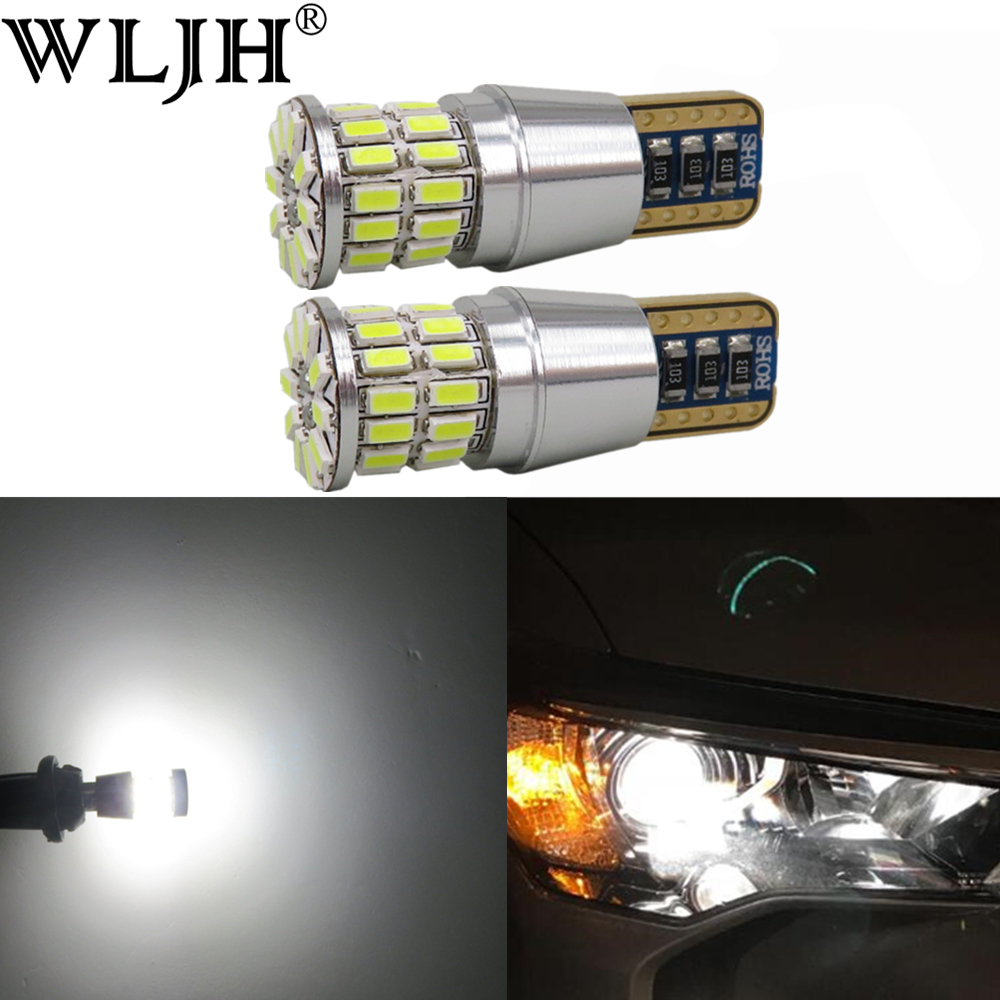 WLJH 2x LED Canbus T10 W5W Car Light Clearance Light Parking Bulb For <font><b>Renault</b></font> duster megane 2 logan <font><b>Koleos</b></font> laguna 2 captur clio image