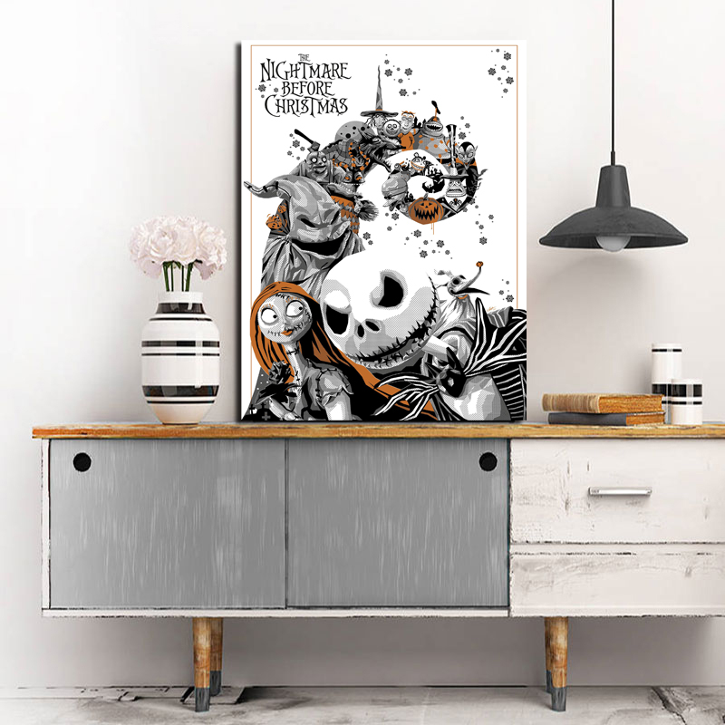 The Nightmare Before Christmas Mr Jack Canvas Posters Prints Wall Art Painting Oil Decorative Picture Kids Room Home Decoration Painting Calligraphy Aliexpress The nightmare before christmas (original title). the nightmare before christmas mr jack