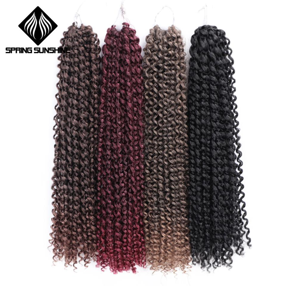 Passion Twist Hair Synthetic Crochet Braid Hair Extension Kinky Twist 18inch Spring Twist Hair 22strands/pack Spring Sunshine