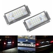 مصباح لوحة ترخيص Canbus 18Led ، مصباح لوحة ترخيص لسيارات Bmw Mini Cooper S ONE Convertible R50 01 06 R52 04 08 R53 ، 2 قطعة