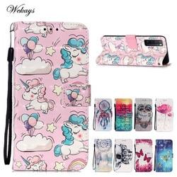 На Алиэкспресс купить чехол для смартфона cartoon unicorn leather flip case for huawei p40 litee y7p cover fundas for huawei nova 7 pro 5g nova7 nova 7 se case capa coque