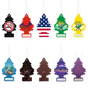 1pc Car Air Freshener Hanging Paper Tree Cardboard Royal Pine Scent For Home Car Decoration Random Fragrance Delivery