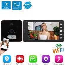 5 inç 1080P akıllı WiFi Video kapı zili güvenlik elektronik kapı görüntüleyici PIR hareket algılama Video kamera kapı zili