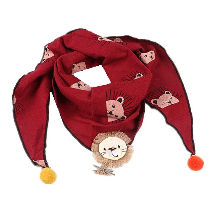 Весенние клетчатые треугольные шарфы в горошек для маленьких девочек; осенне-зимняя шаль для мальчиков и девочек; Детские хлопковые воротники; теплый детский шейный платок - Цвет: B8