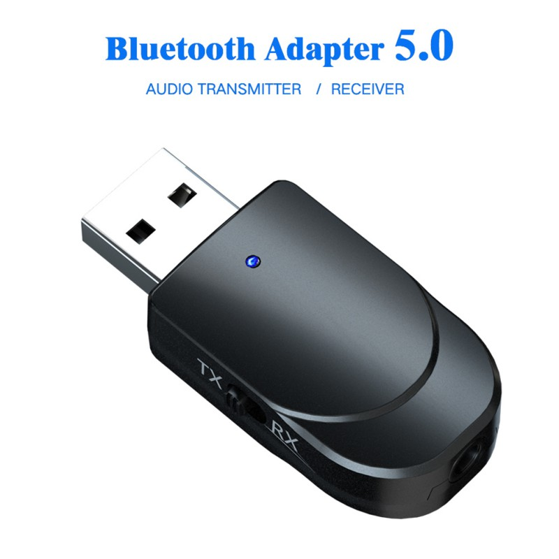 Bluetooth 5.0 Audio Receiver Transmitter 2 IN 1 Mini 3.5mm Jack AUX USB Stereo Music Wireless Adapter For TV Car PC Headphones