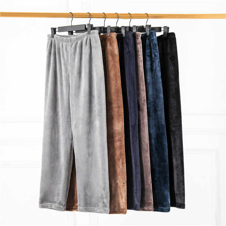 Neue Winter Flanell herren schlaf bottoms verdicken warme jogginghose mens pyjamas hosen komfort Slacks pijamas paar casua hosen