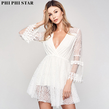 Phi Phi Star Brand Sexy ladies lace design white v neck blouse for women delta phi epsilon square note pad