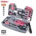 Hi-Spec Pink Lady zestaw narzędzi gospodarstwa domowego Repari zestaw narzędzi ręcznych prezent narzędzia diy dla kobiet Lady Gril wit plastikowa skrzynka na narzędzia