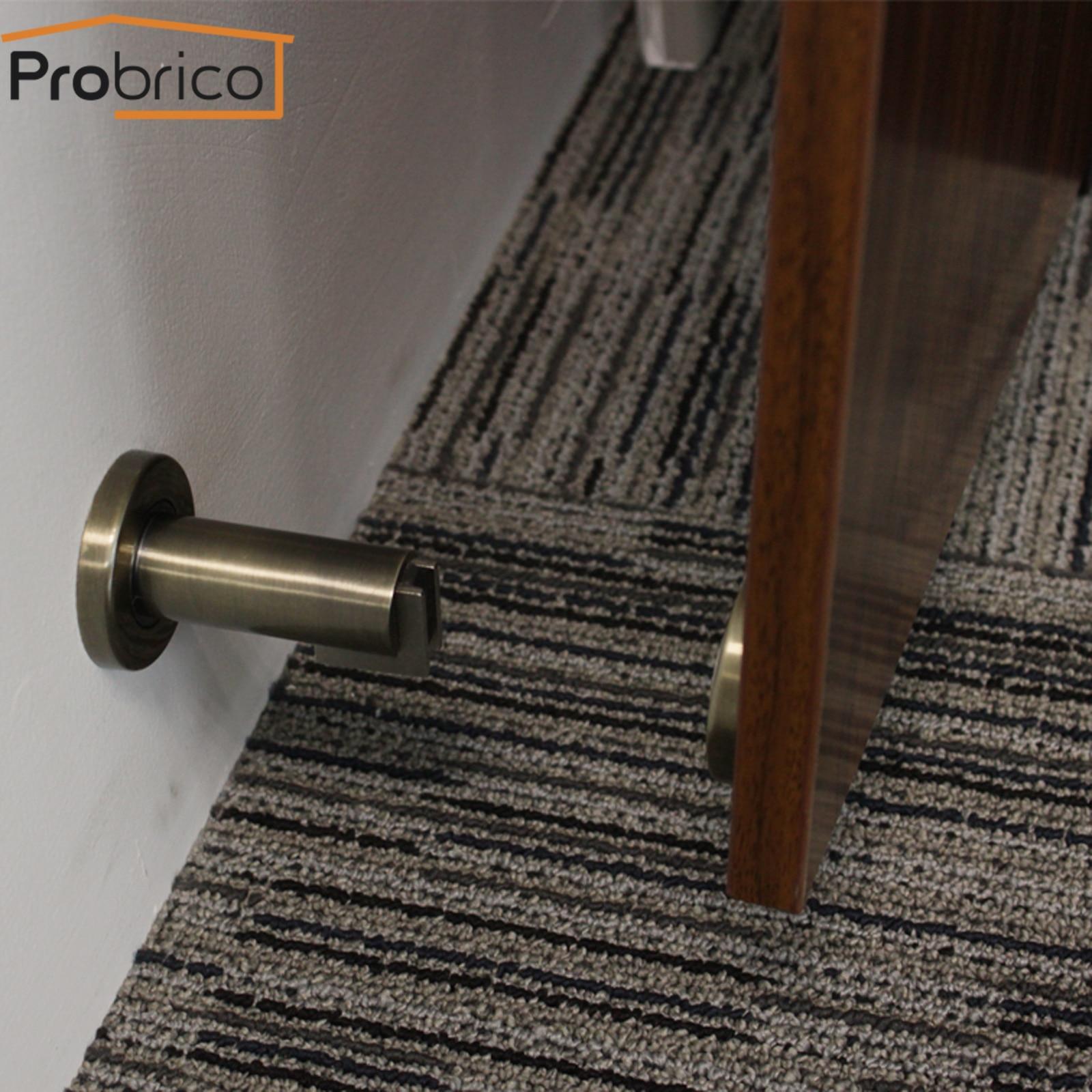 Probrico Magnet Doorstops Magnetic Door Stop Antique Bronze Wall-mounted Door Holder Floor-mounted Door Catch Stopper