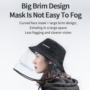 Image 2 - ROCKBROS אופניים מסיכת הפנים לנשימה מתקפל HD שקוף רחיץ אבק הוכחה הגנת מסכת כובעים בשימוש עם Mascarilla מסיכת