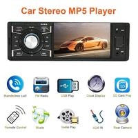 4.1 Inch 1 Din Car Radio Audio Stereo FM Radio 12 V DC Hands Free Call Bluetooth MP5 Player With Rearview Camera Auto Supplies