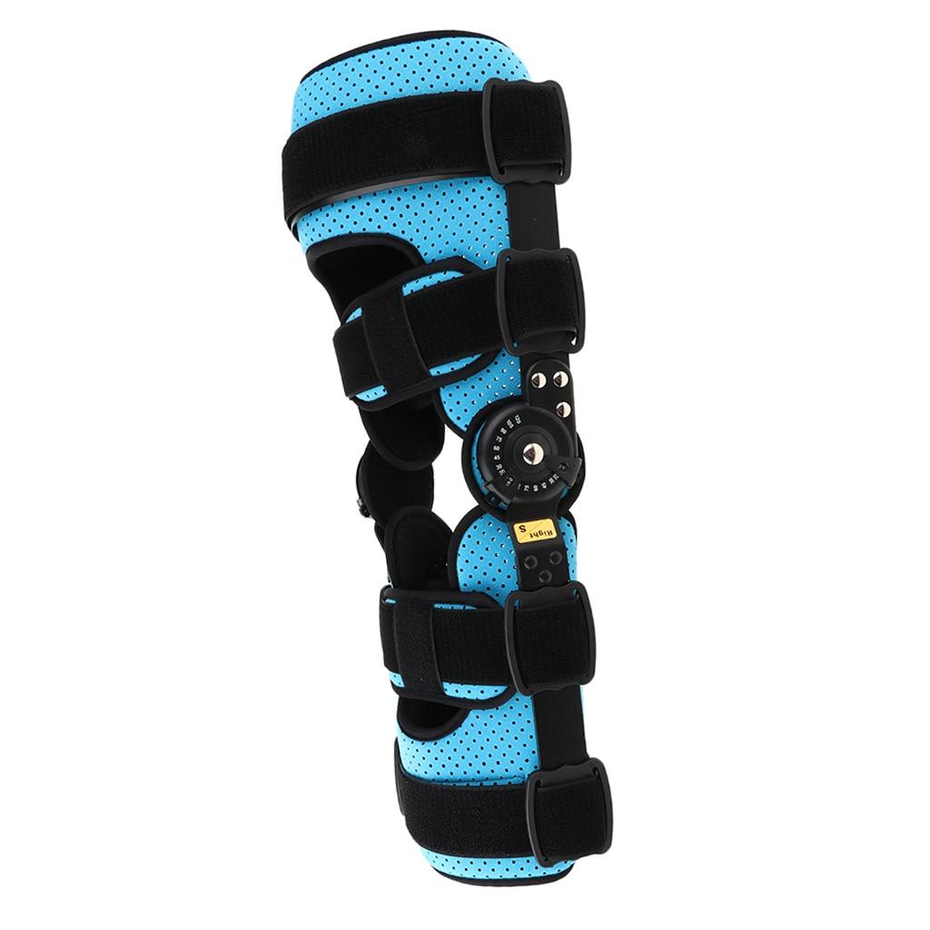 Stabilisateur de jambe respirant Support de genou articulé orthèse de protection sangle de protection Fracture attelle fixe pour les blessures de Sport