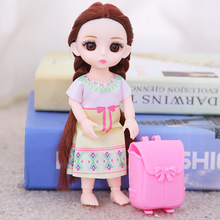 цены 16cm Fashion BJD Dolls With Bag 13 Joint Moveable Original Princess Doll Toys Make up Dress up Cute Baby Doll Toy For Kids Gifts