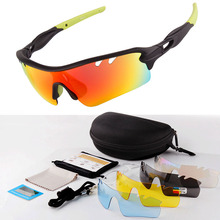 Hot Selling UV400 Polarized Cycling Sun Glasses Men MTB Sport Bike Sunglasses Sports Goggles Women Fishing Glasses With 5 Lens west biking cycling glasses 5 lens windproof anti fog with mypia frame sport mtb bike bicycle polarized cycling glasses 5 lens