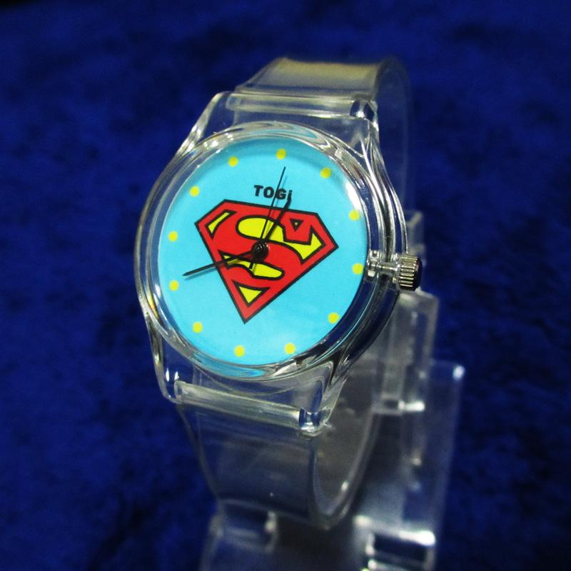 Hot Sale Superman Sport Casual Quartz Watch On Silicone Plastic Wrist For Children  Adults Watch Dropshipping