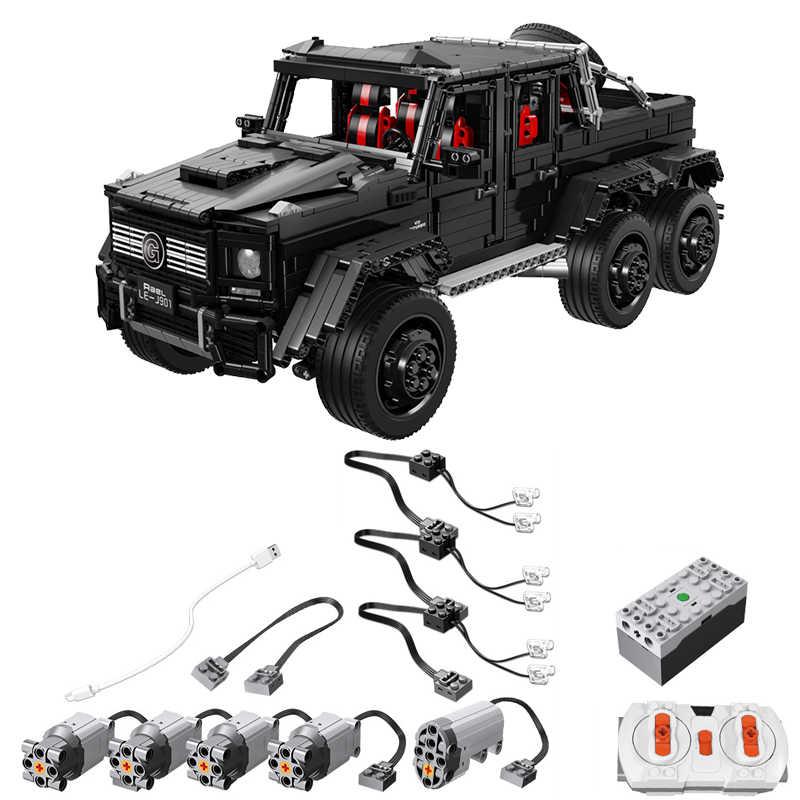LE-J901 lepining Serie Technic RC Auto MOC 2425 G63AMG 6X6 LAND CRUISER Set di Blocchi di Costruzione di Modello Auto Giocattoli Per I Bambini