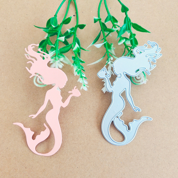 Mermaid woman fish tail decorative metal cutting die book paper knife stamping