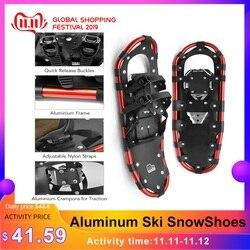 Ski Sneeuwschoenen Vrouwen Mannen Aluminium Sneeuw Schoenen Vrouwen Schoenen Ski Laarzen Verstelbare Bindingen Carrying Tote Bag Outdoor Winter Sneeuwschoenen