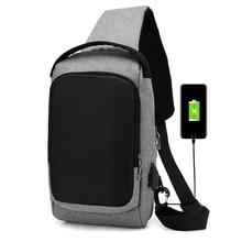 лучшая цена Men Waterproof 5L USB Anti Theft Crossbody Bag Outdoor Men Shoulder Bag Camping Travel Male Chest Waist Pack bolsa masculina