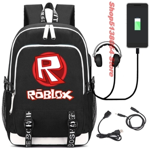 Image 2 - Roblox backpacks for school multifunction USB charging for Kids Boys Children teenagers Men School Bags travel Laptop mochilas