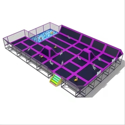 Dostosuj Park trampoliny dla młodych  popularnych ekstremalnych gry sportowe kryty trampolina wojownik ninja