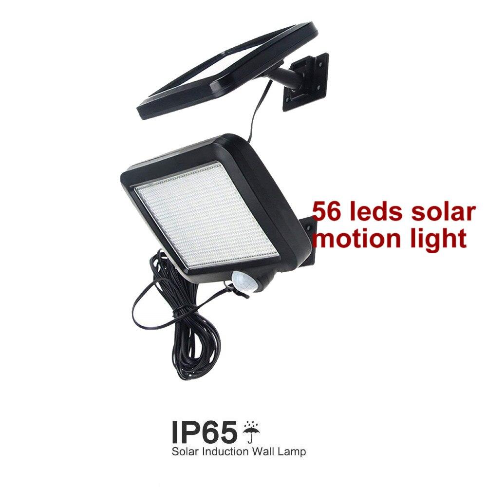 Işıklar ve Aydınlatma'ten Güneş Lambaları'de 56 leds güneş işık bölünmüş paneli ampul şeritler led lamba motion su geçirmez meşale güverte duvar veranda güvenlik acil çit peyzaj title=