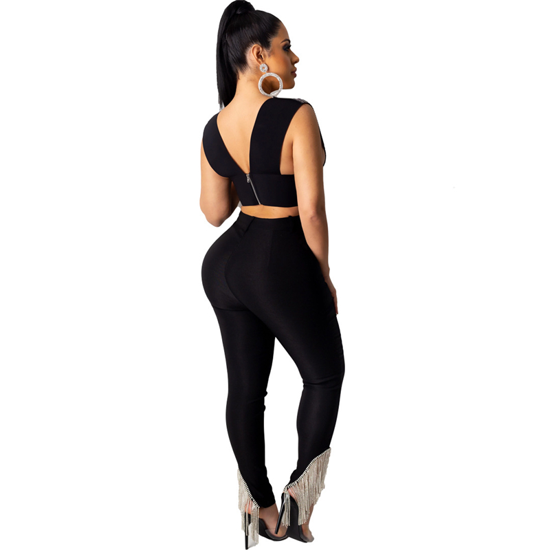 Adogirl Women Fashion Casual Tassel Pencil Pants High Waist Button Fly Stretchy Trousers Female Night Club Outfits Fast Ship Pants & Capris Women Bottom ! Plus Size Women's Clothing & Accessories