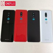 100% מקורי ONEPLUS 6 3D זכוכית אחורי שיכון כיסוי, החלפת דלת אחורית סוללה מקרה עבור Oneplus 6 שש + מצלמה עדשת זכוכית