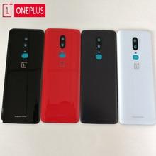 100% oryginalny ONEPLUS 6 3D szkło tylna obudowa, tylna pojemnik na baterie dla Oneplus 6 sześć + kamera szklana soczewka