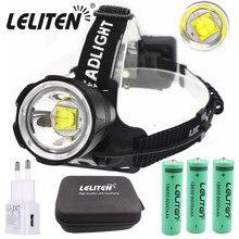 XHP70.2 LED Headlamp Zooming Fishing Head lamp Camping headlight ZOOM Headlamp Flashlight Use3*18650 Battery