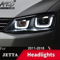 Head Lamp For Car VW Jetta 2011 2018 Jetta Mk6 Headlights Fog Lights Day Running Light DRL H7 LED Bi Xenon Bulb Car Accessory